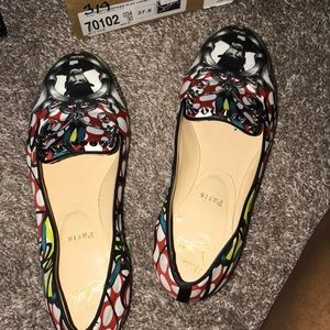 Authentic Christian louboutins flats!!!